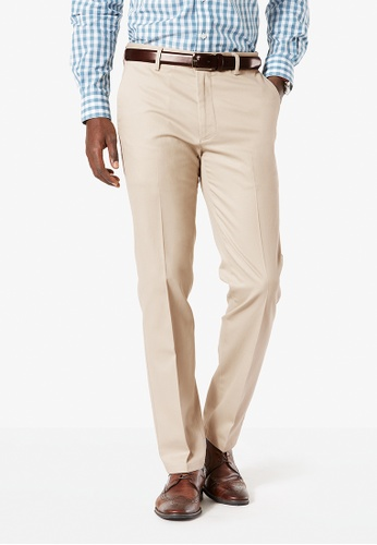 Dockers grey Dockers Signature Stretch Khaki Slim Tapered Pants Cloud 70B4EAA3A8768AGS_1