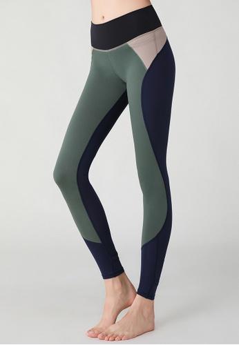 HAKA ACTIVE 綠色 運動褲高腰健身跑步棉感踩腳兩穿緊身褲 DA6B9AA325719BGS_1