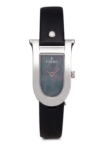 Freya 半橢圓皮革腕錶, 錶類, 飾品配esprit台灣網頁件