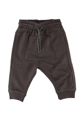 FOX Kids & Baby grey Baby-Boys Casual Drawstring Joggers 9EEB0KA66BE1E4GS_1