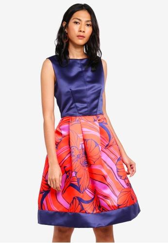 CLOSET navy Gold Contrast Hem Dress 49315AAB9018C9GS_1