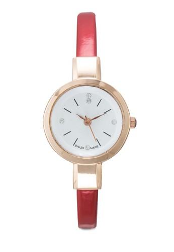 水鑽細仿皮圓錶,esprit專櫃 錶類, 其它錶帶