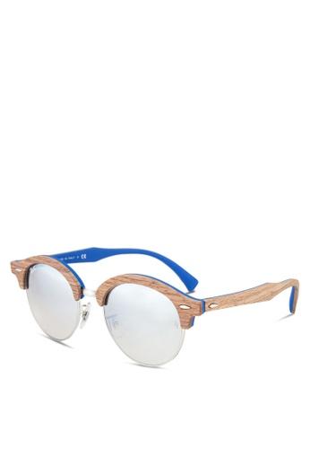 Ray-Ban blue Clubround RB4246M Sunglasses RA896GL00GRFMY_1