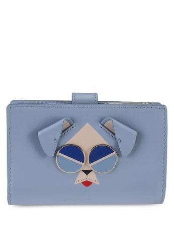 kate spade new york blue Mod Dog Medium Bifold Wallet (cv) 21D50AC75A6DB0GS_1