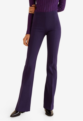 Mango purple Flared Trousers CD304AA23C5E0AGS_1