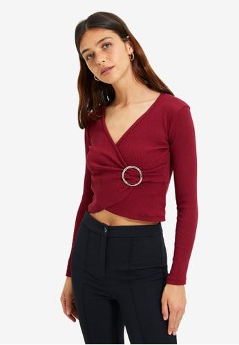 Trendyol red Burgundy Blouse 3938DAA5B44173GS_1