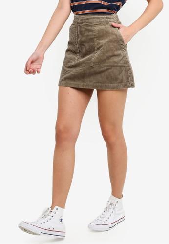 Factorie multi Cord Skirt E824DAAB70ED09GS_1
