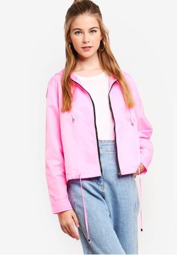 Something Borrowed pink Contrast Trim Lightweight Jacket 1A28DAA5FA5A2DGS_1