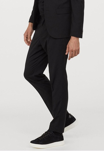 H&M black Suit Trousers Skinny Fit 3FEF0AA31A3CE9GS_1
