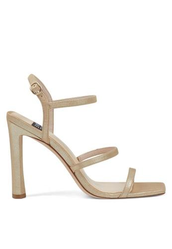 Nine West gold NWGABELLE Strappy Sandals FBBCESH532EC69GS_1