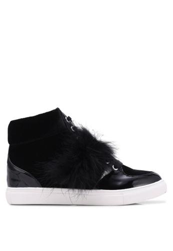 Miss KG black Lush Velvet Sneakers MI302SH0RTBOMY_1