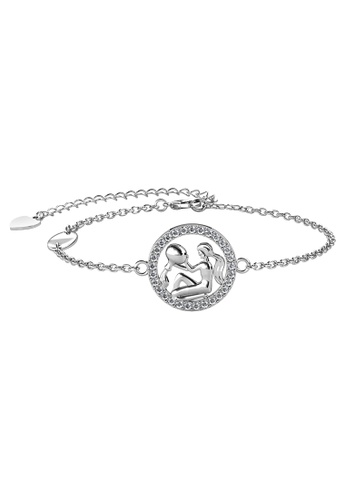 Her Jewellery white Her Jewellery 12 Horoscope Circlet Aquarius Bracelet (White Gold) embellished with Crystals from Swarovski D4533AC4751C19GS_1