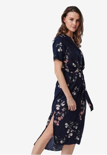 Vero Moda navy Printed Shirt Dress 05FEFAABE850ECGS_1