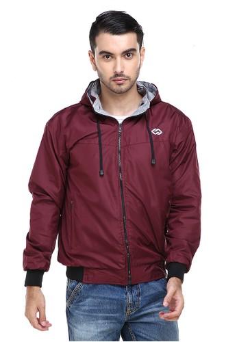 Hamlin grey Hamlin Clover Jaket Parasut Hoodie Pria 2 IN 1 Casual Jacket Two Tone Material Despo Parka Fleece ORIGINAL E51C3AAEB717D6GS_1