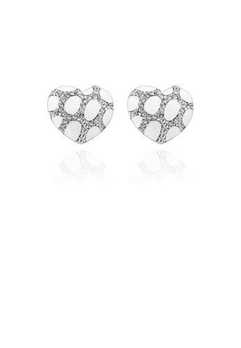 Glamorousky white Elegant Fashion Heart Shape Austrian element Crystal Earrings F15EBACE4539C0GS_1