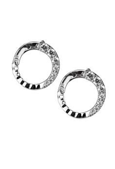 Circling Silver Earrings