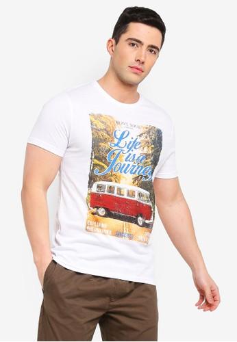 Brave Soul white Fix Print T-Shirt 1D396AA26063D6GS_1