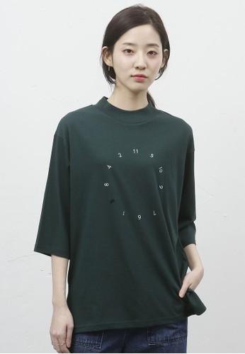 韓風時鐘印花七分袖上衣, 服飾esprit分店, 上衣