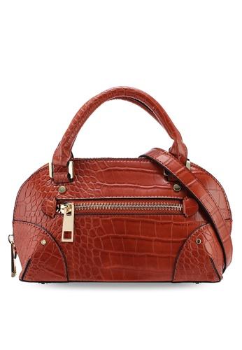3ad6ec7a6d083 TOPSHOP orange Goa Mini Croc Bowler Bag C5F23ACA9483C0GS_1