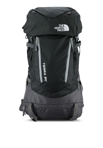 The North Face black and grey Terra 50 Backpack TH274AC0S7JQMY_1