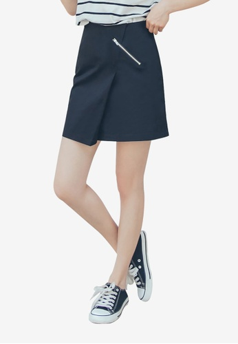 Tokichoi black Zipped Skirt with Slit D8839AAA41337BGS_1