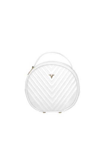 Verchini white Verchini Round Tote Bag 02115AC1F9059AGS_1