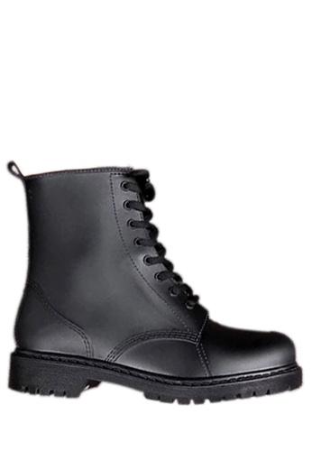 Twenty Eight Shoes 黑色 系帶低筒雨靴 VC809 EAF69SH07E0150GS_1
