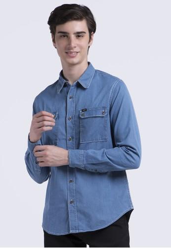 Lee blue Long Sleeve Shirt F89C9AA83ACD1EGS_1