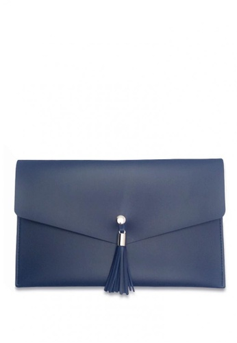 Louiebelle Collection blue Sophia Clutch LO122AC0K97VPH_1