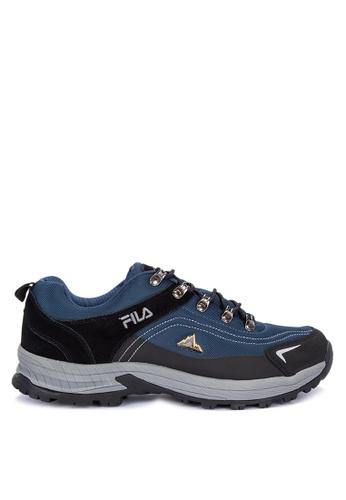 Fila black and multi E Encourage Outdoor Trail Shoes 1C5C3SHC7F5020GS_1