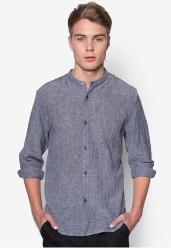 Ntzalora 台灣門市 - 暗紋中式領長袖襯衫, 服飾, 襯衫