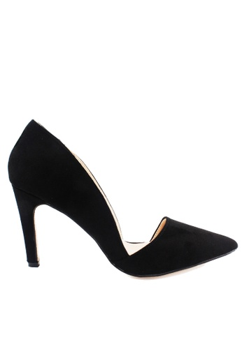 Twenty Eight Shoes black Asymmetrical arch Heel Pumps VS172 D0B92SH4D287B9GS_1