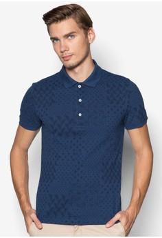 Bandana Print Pique Polo Shirt