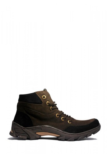 D-Island black and brown D-Island Shoes Boots Trackking Brazil Leather Drak Brown DI594SH58VNLID_1