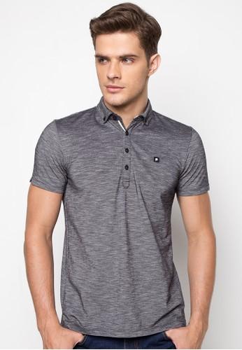 Button-down Two-tone Polo Shirt