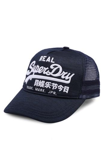 2bbaec9b9159a3 Shop Superdry Vintage Logo Edition Trucker Cap Online on ZALORA Philippines