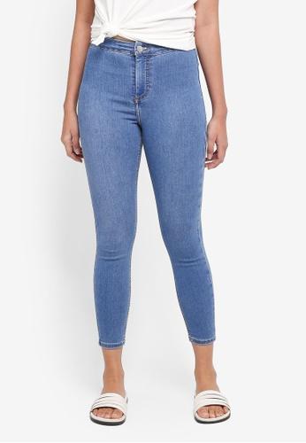 TOPSHOP blue Petite Mid Blue Joni Jeans 454E7AA75E4D02GS_1