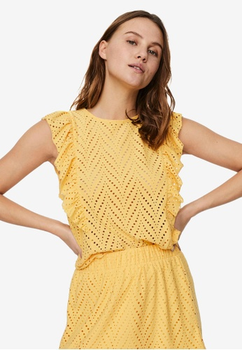 Vero Moda yellow Leah Sleeveless Top 62AE2AAA748F42GS_1