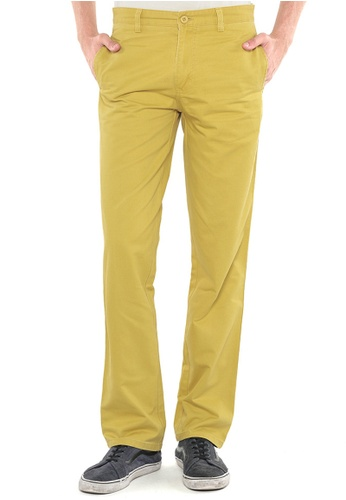 POLO HAUS yellow Polo Haus - Straight Cut Long Pant (Yellow) PO783AA61FTAMY_1