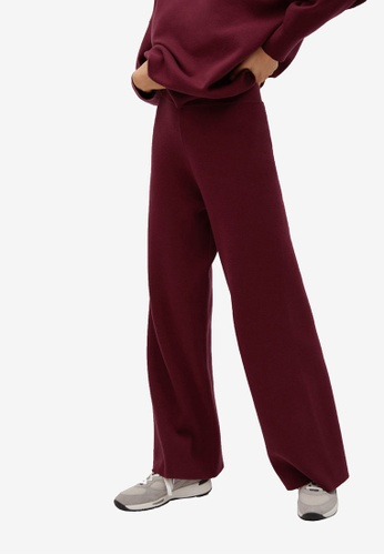 Mango red Flared Knit Trousers D7A50AA009840EGS_1