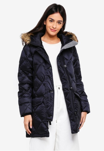 Abercrombie & Fitch black Mid Thigh Parka Coat 1372CAA2825093GS_1