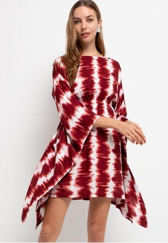 Seven Level red Kimono Loungewear Dress Asa 5236CAABDB7689GS_1