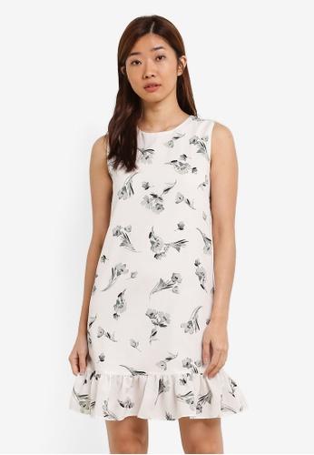 ZALORA white Ruffle Hem Dress 6B6A1AADBA3C88GS_1