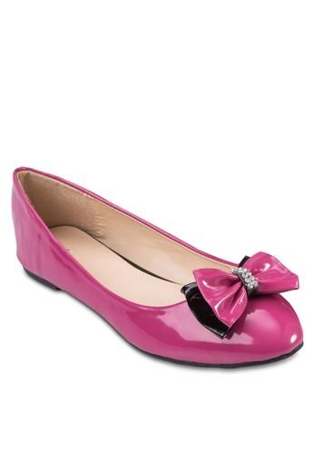 閃鑽蝴蝶結平底鞋, 女鞋,zalora 心得 ptt 鞋