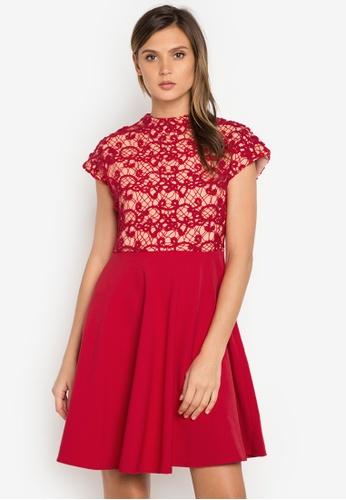 Plains & Prints red Party Perfect CS Barbie Dress PL509AA0J95HPH_1