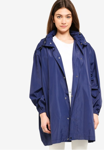 Something Borrowed navy Hooded Windbreaker EBBAFAA7B927EEGS_1