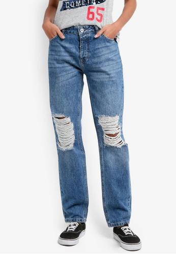Superdry blue Harper Boyfriend Jeans 5BEAAAAEC90B48GS_1