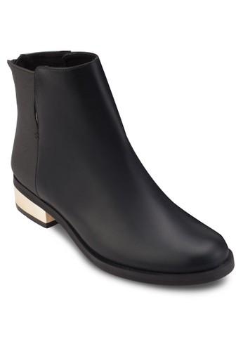 金飾粗跟踝靴, 女鞋,esprit outlet 台灣 靴子