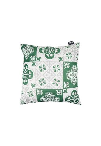 HOUZE green HOUZE - LIV Peranakan Cushion Cover - Green B 0207BHL6124032GS_1