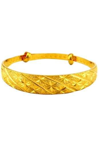 YOUNIQ gold YOUNIQ Premium Classical 24K Plated Bangle (Gold) YO999AC43SBCMY_1